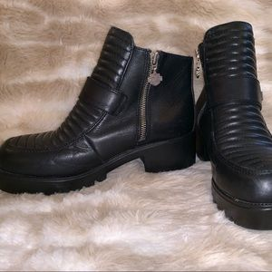 HARLEY-DAVIDSON MOTOR BOOTS GREAT CONDITION